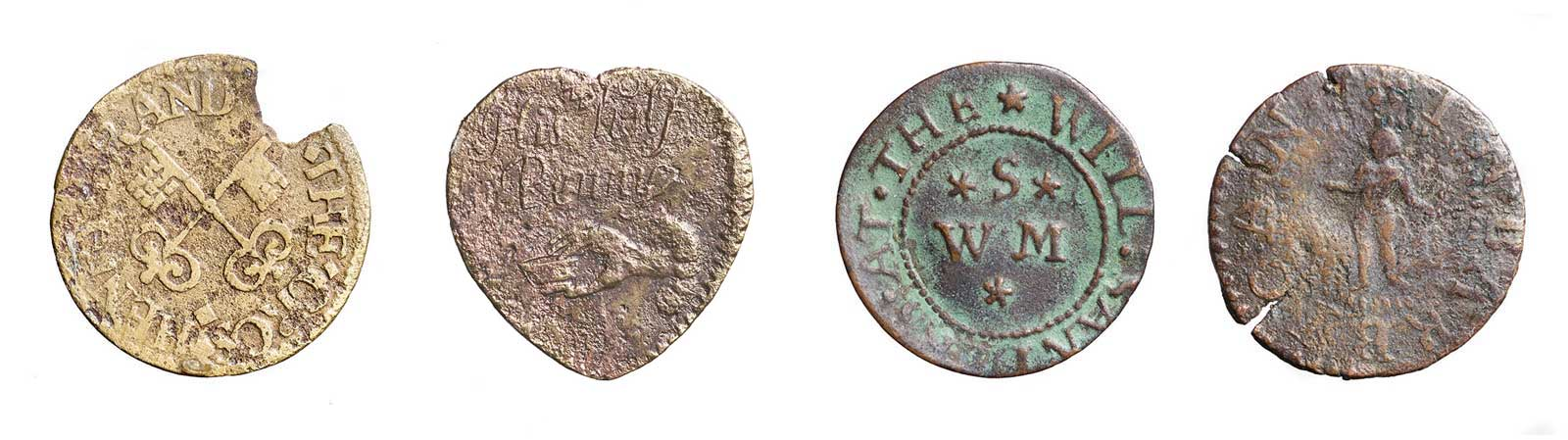 17th century trade tokens.