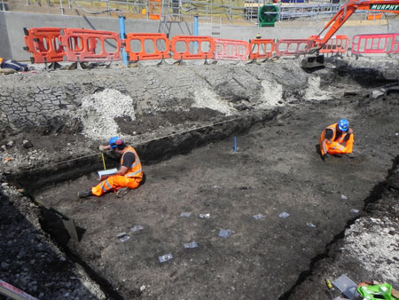 Archaeologist excavate along the length of the Elizabeth Line.