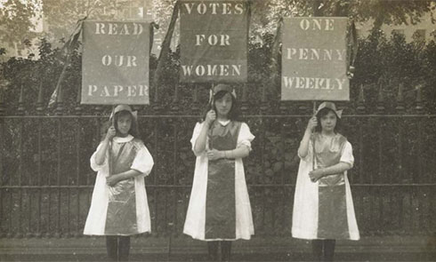Votes for women protesters.