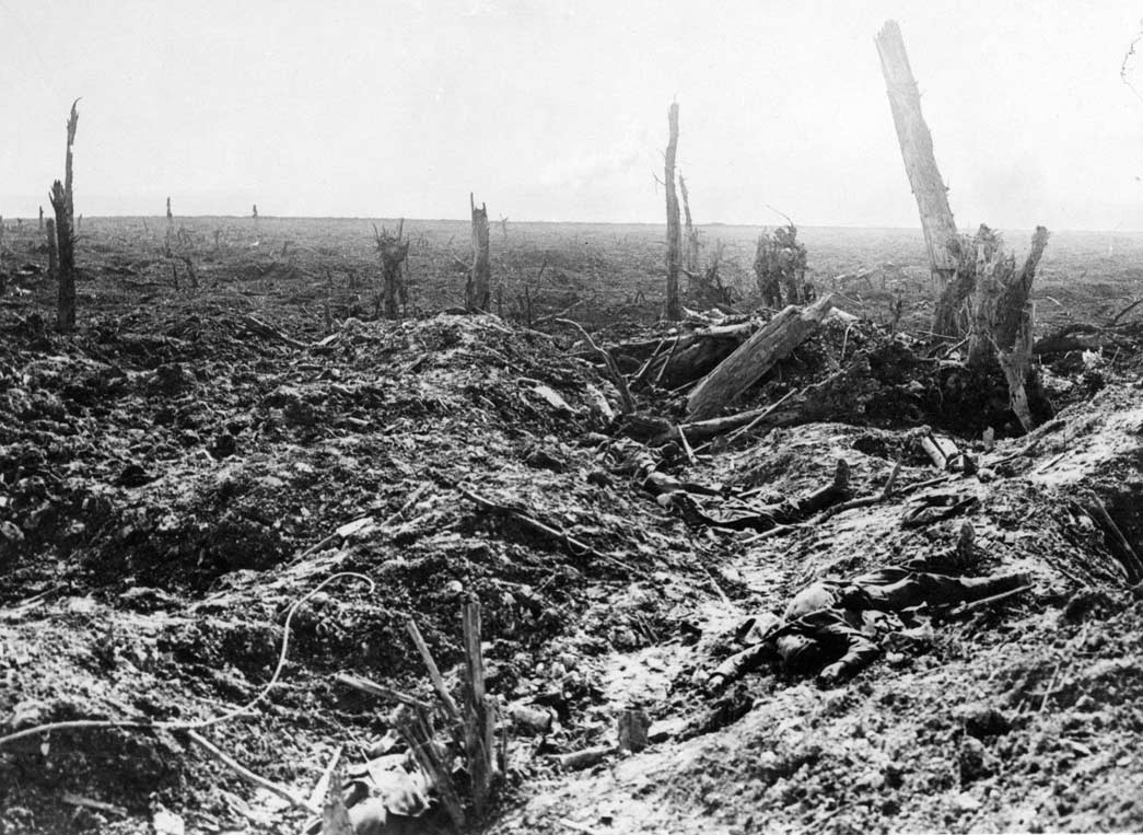 After Courecelette: the attack on the German front line at Flers-Courcelette, 1916. This image is available from the City of Vancouver Archives under the reference number Gr War P28