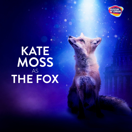 Actress Kate Moss plays the Fox.