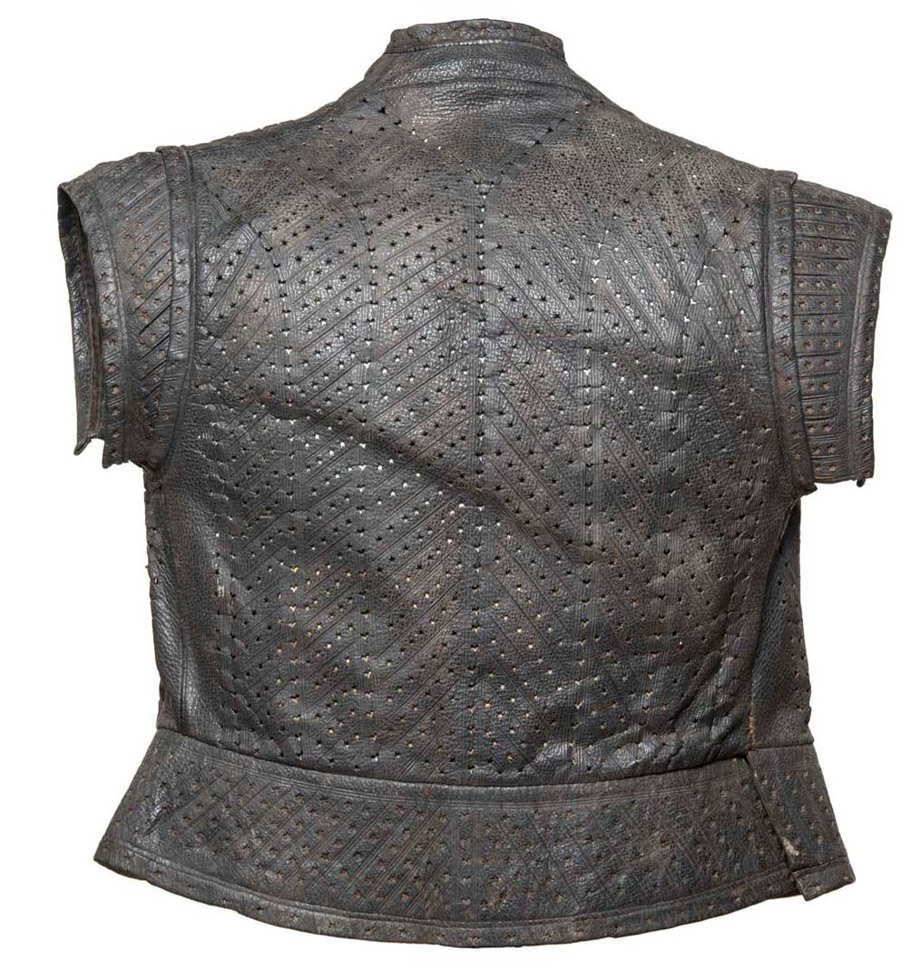 Back of a leather jerkin, 16th century.