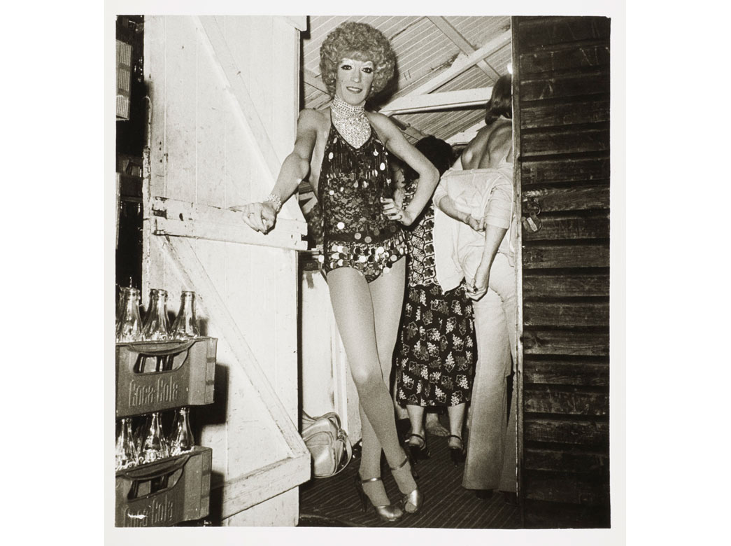 Photograph of a cross-dresser, 1981, © Dick Scott Stewart Archive/Museum of London