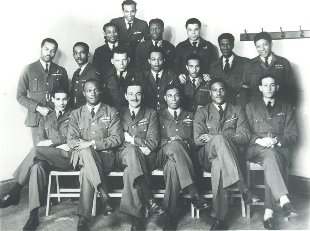 A group of African and Caribbean RAF officers, c. 1942.