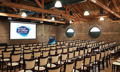 Museum of London Docklands Theatre - image of the Wilberforce Room for venue hire