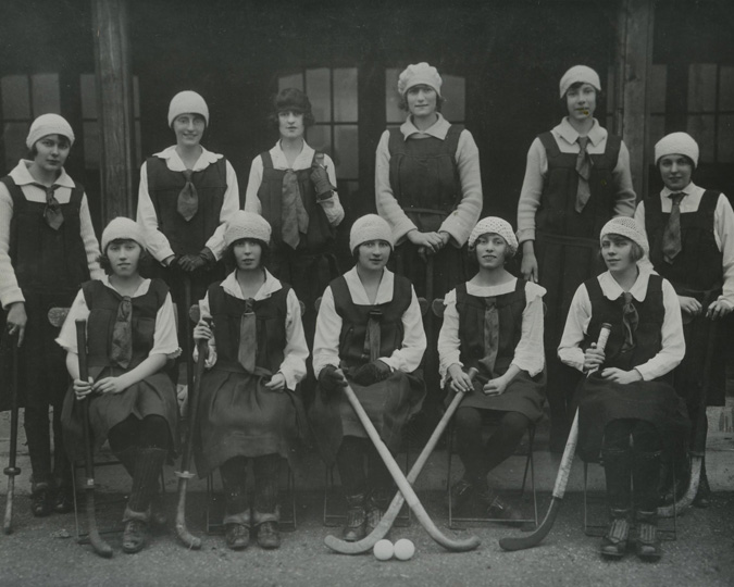 A hockey team of Sainsbury's employees.