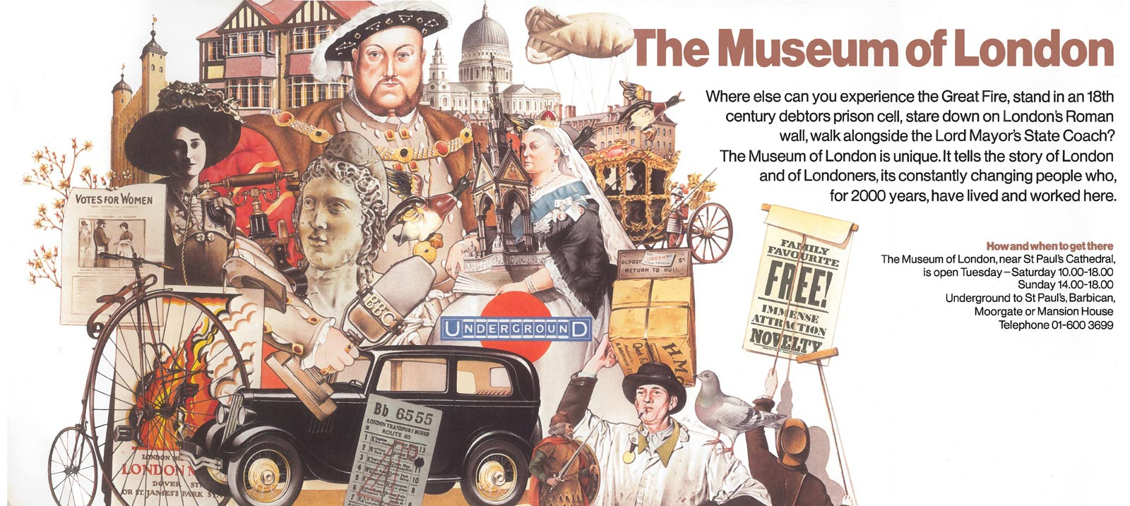 A poster for the Museum of London from 1976.