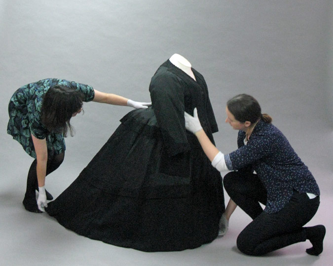 Setting out Queen Victoria's mourning dress