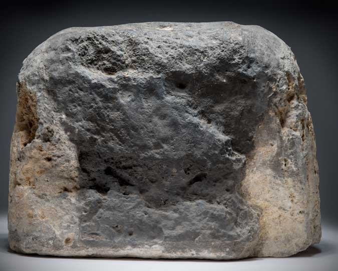 The London Stone, photographed at the Museum of London.