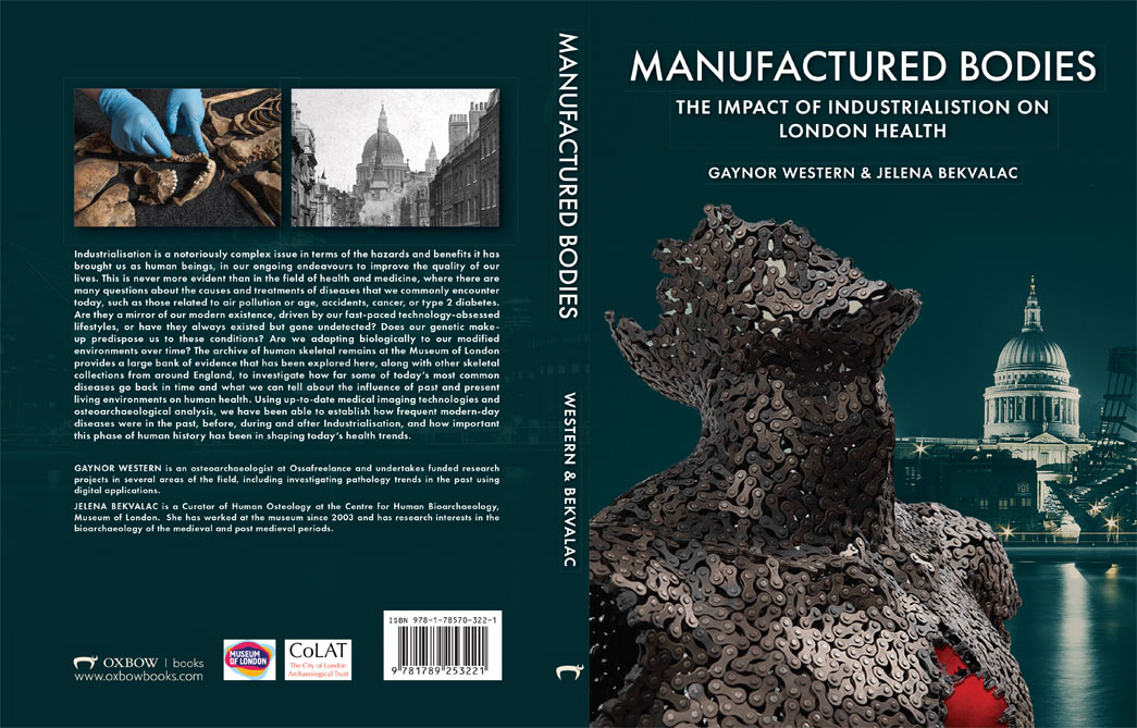Book cover of a book dedicated to exploring the impact of industrialisation on London's health.