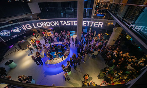 Museum of London Sackler Hall evening event image