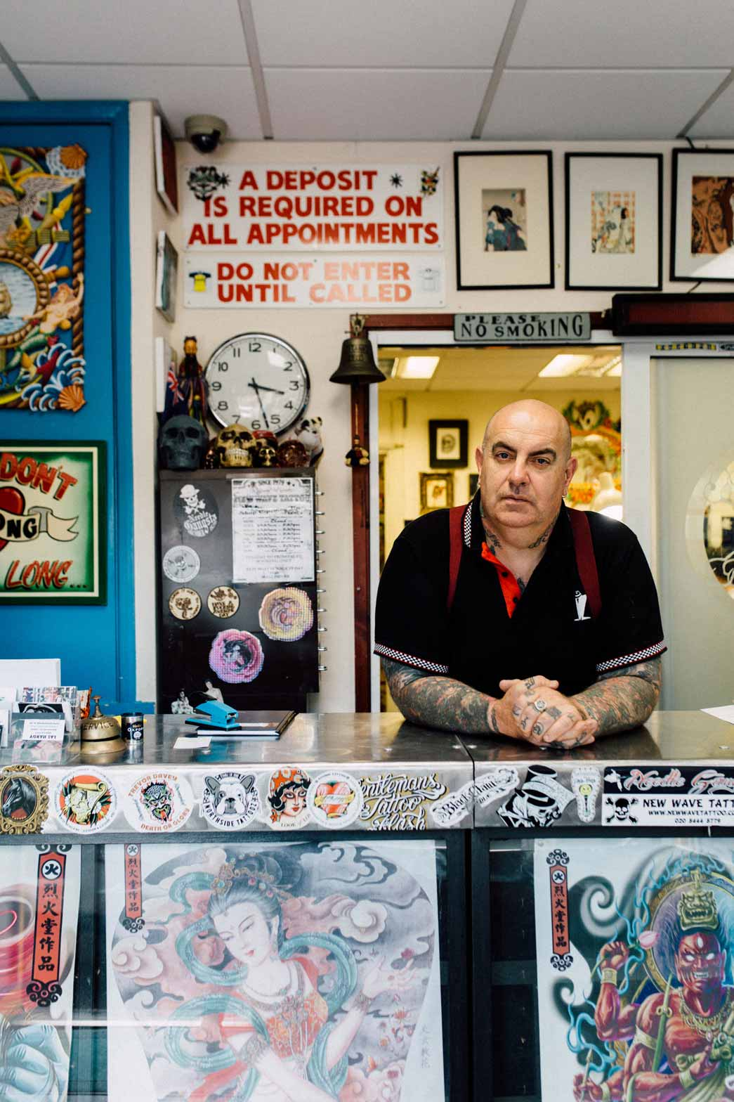 Tattoo artist Lal Hardy. Copyright Kate Berry.