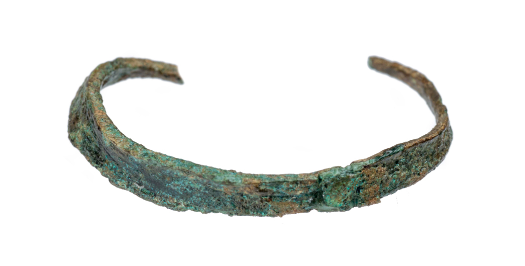 An unidentified copper ornament, possibly Roman or medieval jewellery.