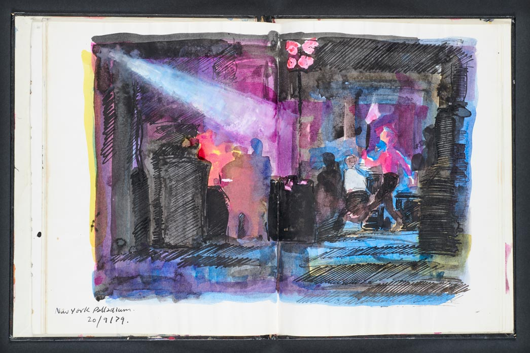 Ray Lowry Sketch Book from Clash Tour