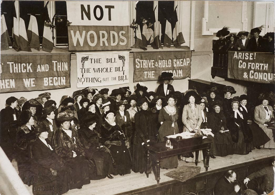 The Suffragette Leaders Addressing Supporters at a Meeting Held at Caxton Hall on 'Black Friday', November 1910