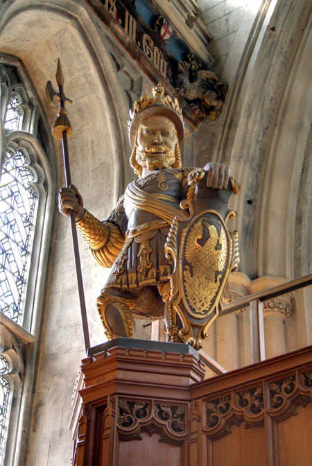 Statue of Magog in the Guildhall. Copyright Ian Visits, BY-NC.