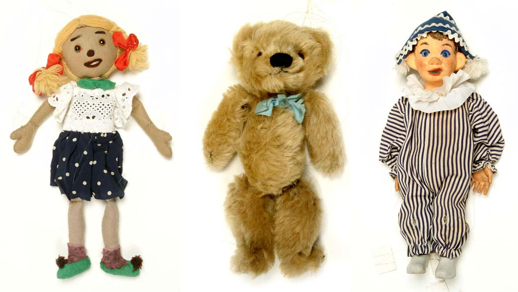 Original dolls used in the Watch with Mother Andy Pandy sketches.