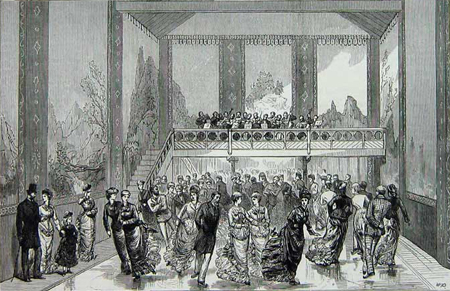 The Glaciarium, the world's first artificially created ice rink. Illustrated London News.
