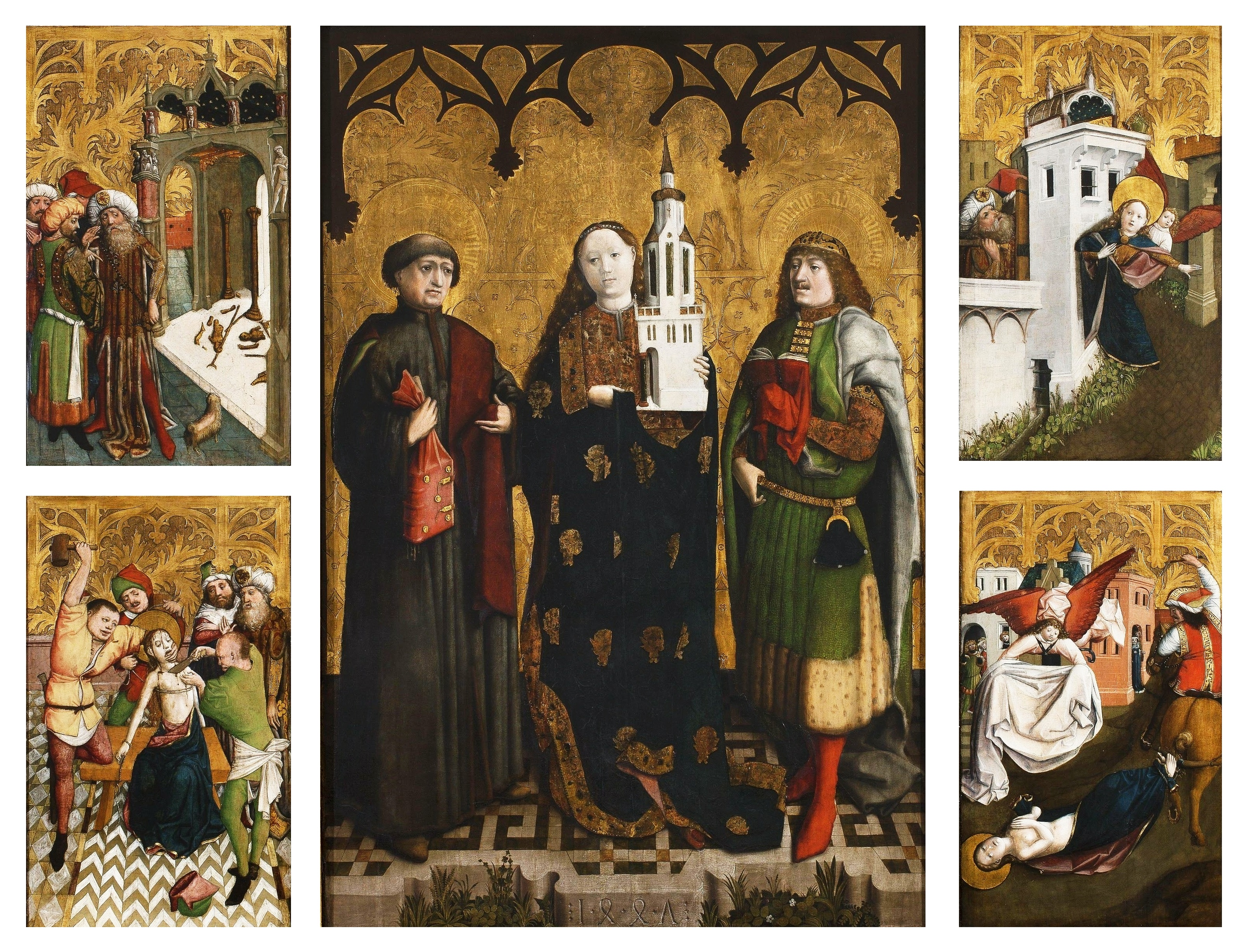 In the mid-15th century an exceptional work of art appeared in Silesia – the Altarpiece of Saint Barbara. This altarpiece adorned the main altar of St Barbara's Church in Wrocław [Vrotz-wahv].