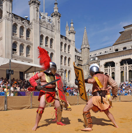 Gladiator Games at the Guildhall.