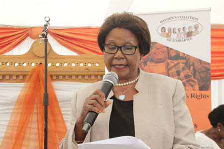 Tsungi Hungwe of the Women's Coalition of Zimbabwe.