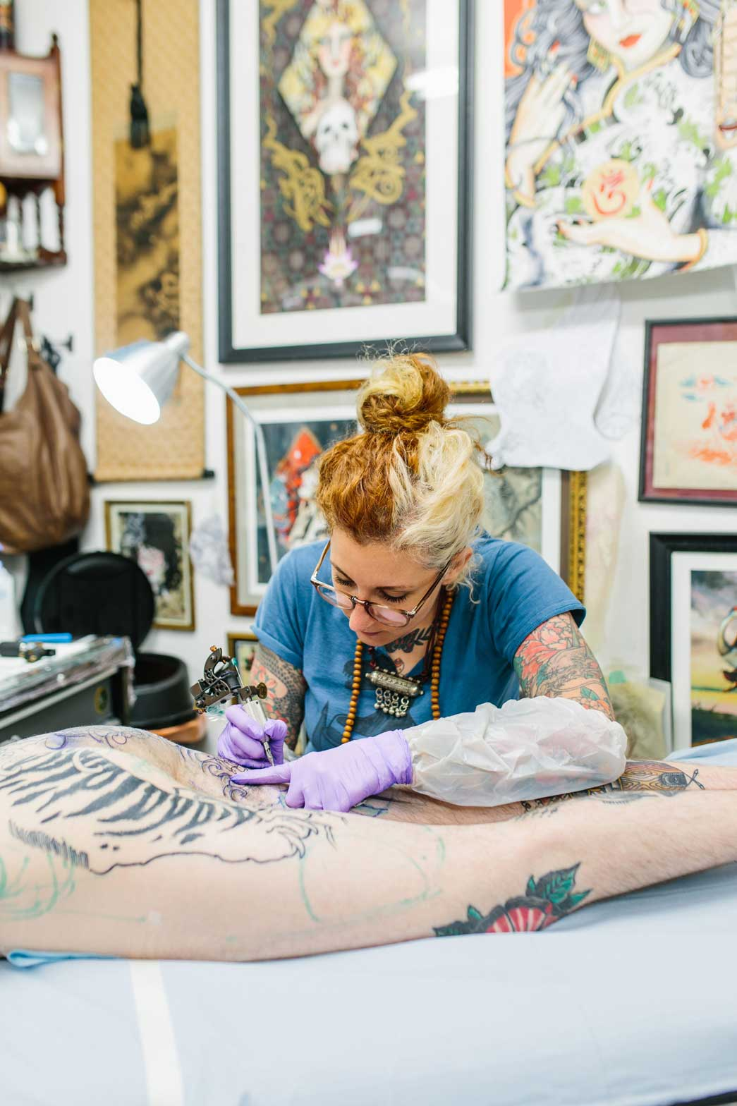 Tattoo artist Claudia de Sable. Copyright Kate Berry.