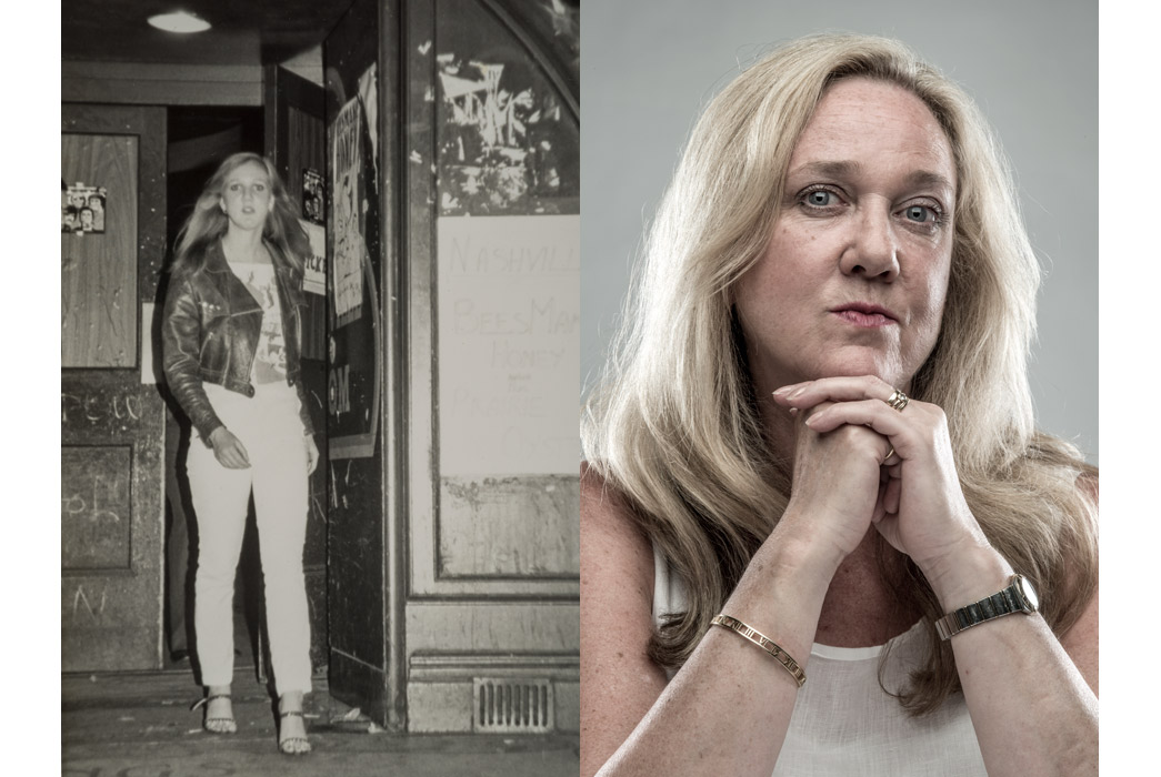 Punk Selena Quirke, photographed in 1976 and 2016.