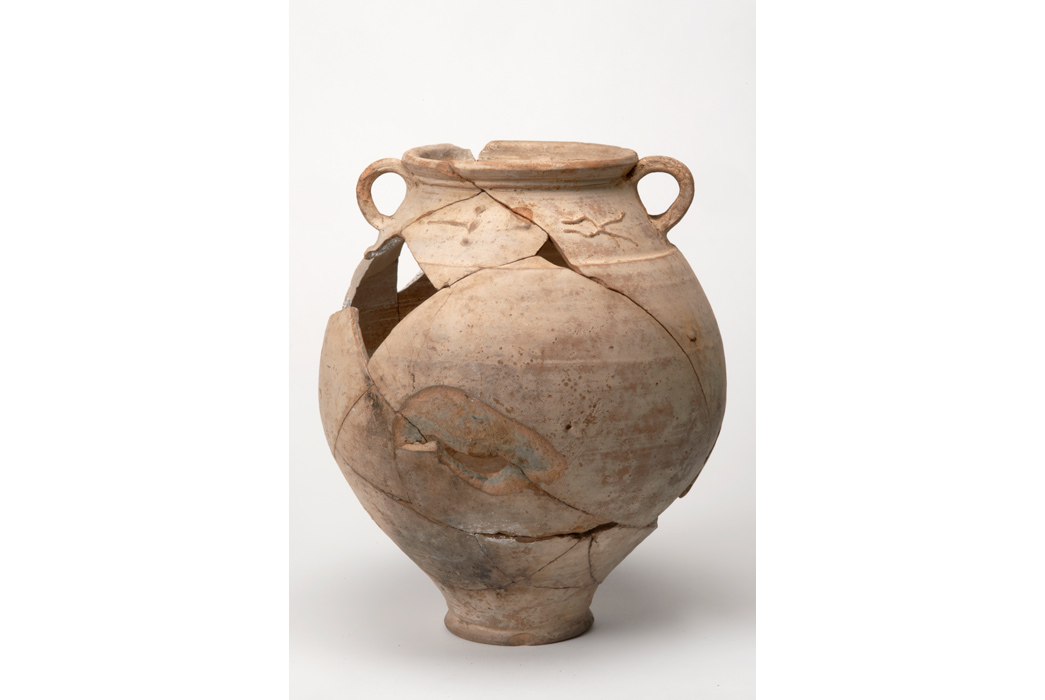 Roman clay pot recovered from Walbrook stream, in old Londinium.