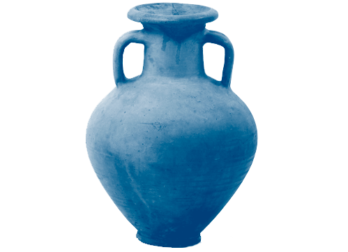 Roman flagon dutone blue image for promotion