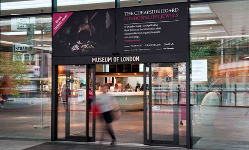 The entrance to the Museum of London