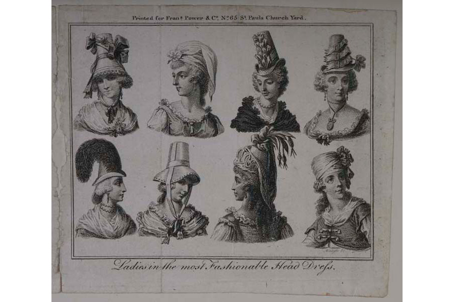 Print of 'Ladies in most fashionable headress'