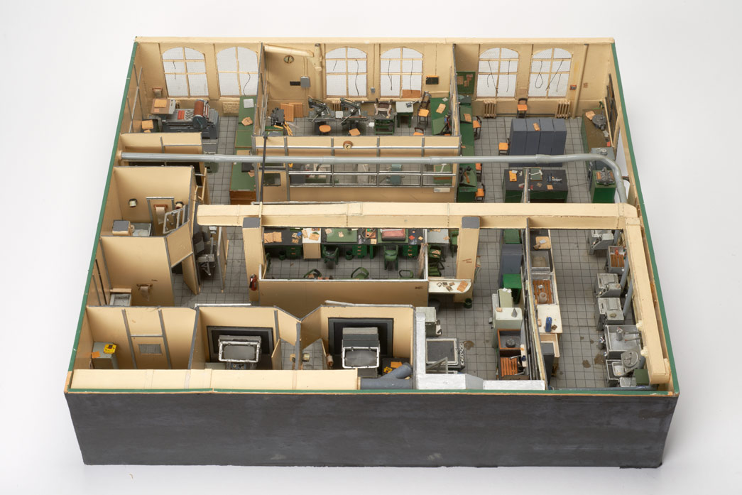 Model of the Evening Standard Offices in the 1970s.