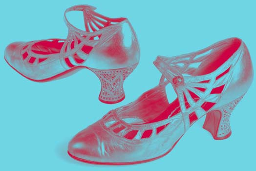 Duotone shoes in pink