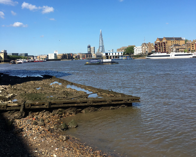 The Thames foreshore in 2016.