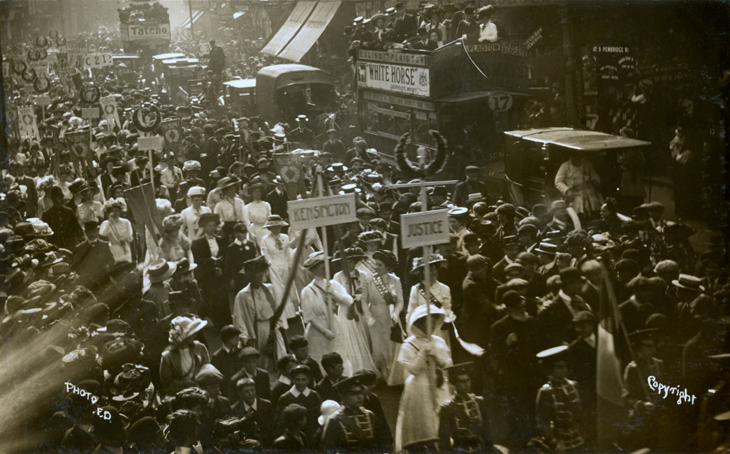Suffragette procession.