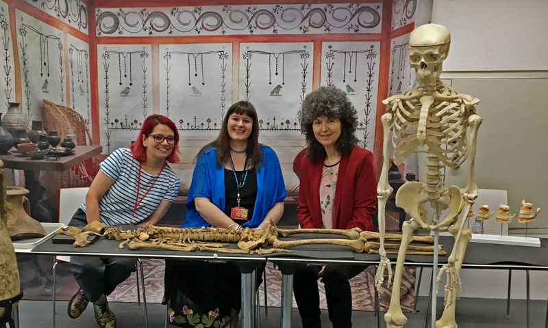 You'll hear from a real osteologist (bone scientist) and children's author Caroline Lawrence.