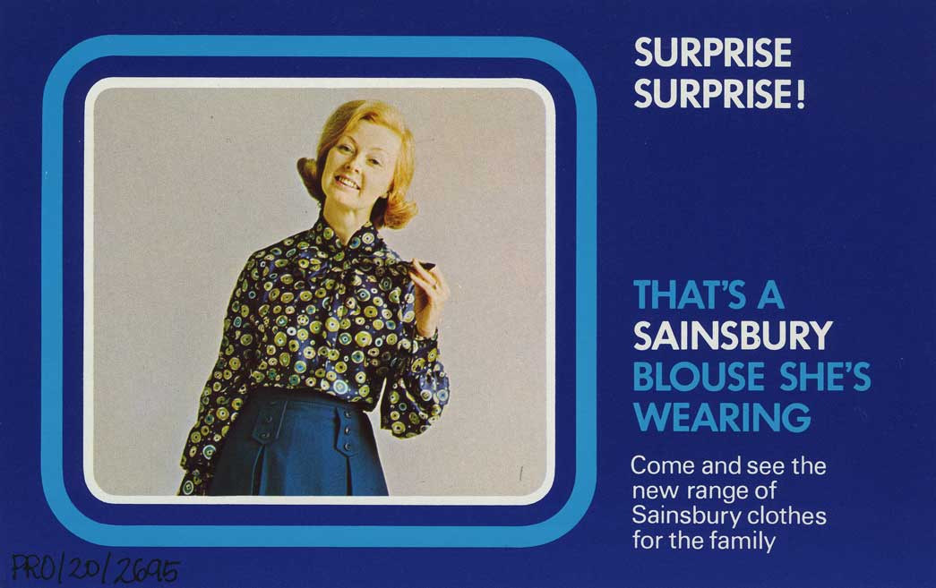 Sainsbury's advert for clothing, 1970's.