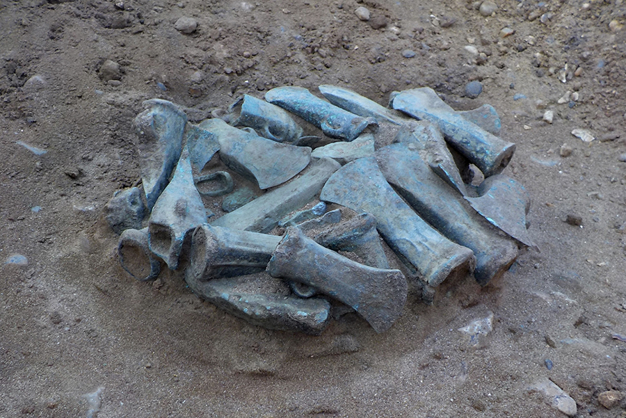 One of the hoards discovered on site in Havering (c) Archaeological Solutions Ltd.jpg