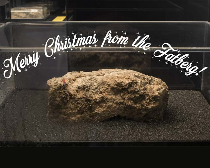 The disgusting fatberg wishes you merry Christmas.