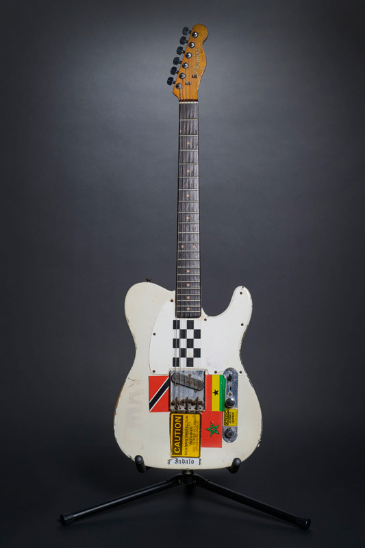 The 1950S Fender Esquire used by Joe Strummer during the recording of the 'London Calling' album and on stage for various live and televised performances between 1979-1981.