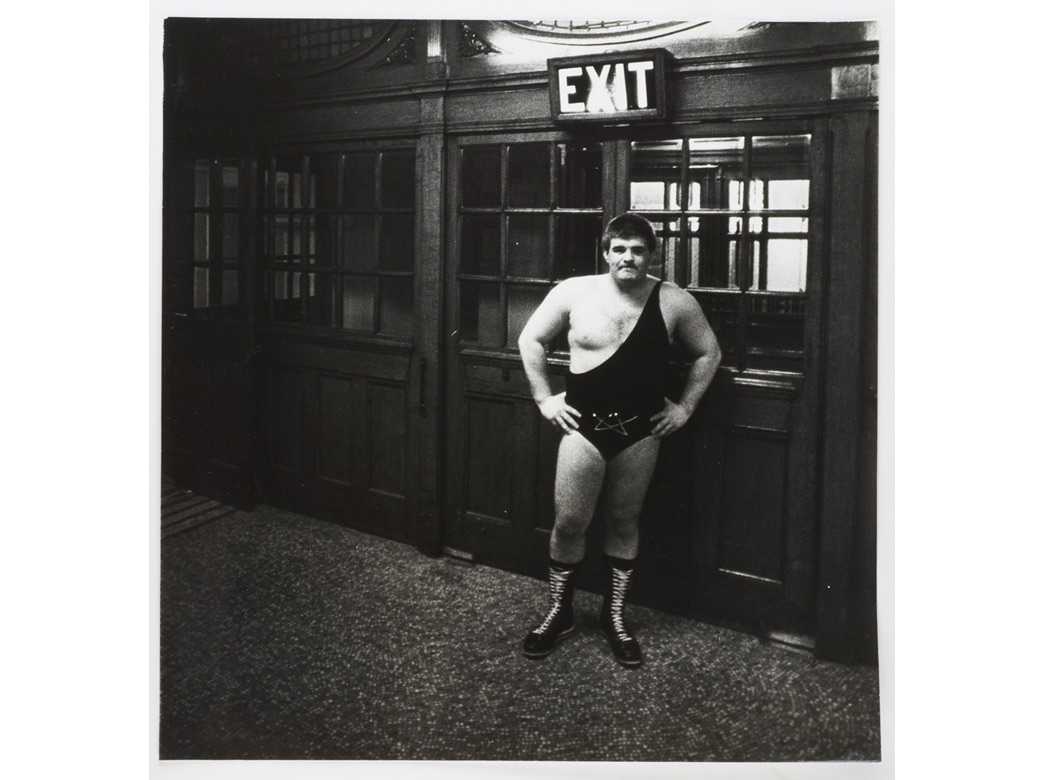 Wrestler at Battersea Town Hall, 1983, © Dick Scott Stewart Archive/Museum of London
