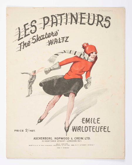Sheet music for Les Patineurs, the skater's waltz.