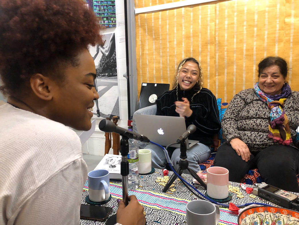 Thais and Alyssa interview long-time North Kensington resident Neli as part of the Curating London: Collecting Ends project with FerArts.