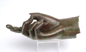 sculpture of a hand