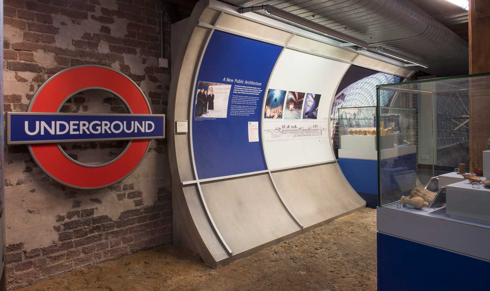 Reconstructed London Underground station in Museum of London Docklands.