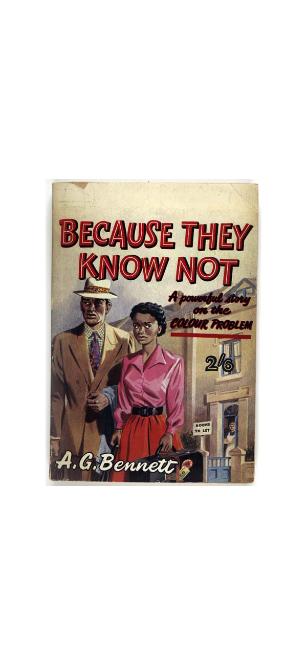 Cover of book Because They Know Not: a Powerful Story on the Colour Problem, 1950s.