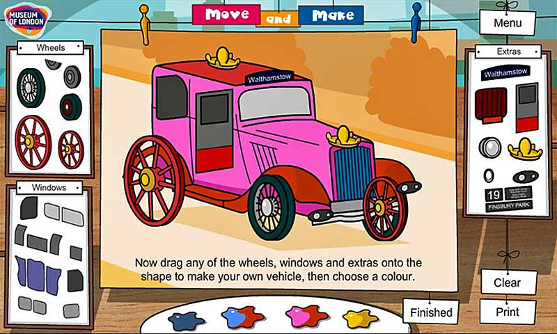 Create personalised London vehicles and buildings in this fun online game for early years!
