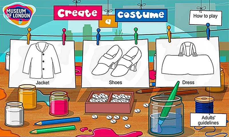 Plat at creating your own London outfit in this online game for early years.