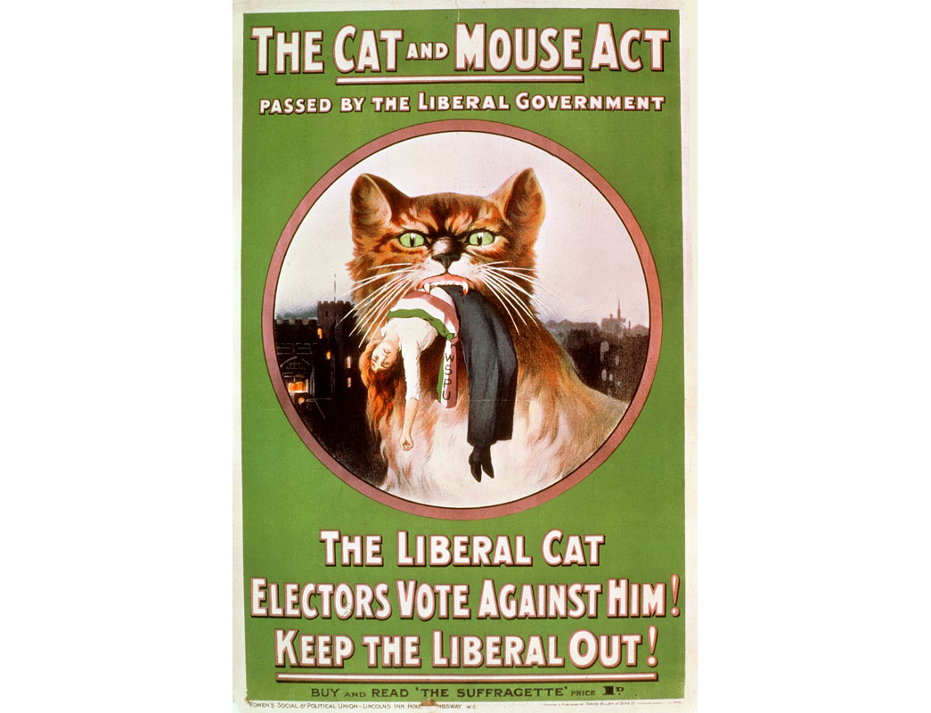 Poster attacking the cat and mouse act