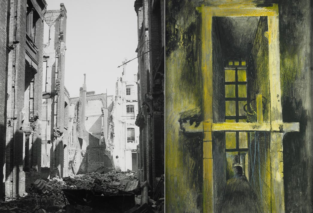 Two views of the Blitz by Graham Sutherland and Bill Brandt